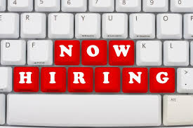 """""""Now Hiring"""" on the computer keyboard image for Engineers hiring Sales Reps"""