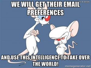 Image describing the belief that direct email marketers are evil geniuses