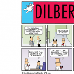 Image of A Humorous Dilbert cartoon about strategy in Tech Companies
