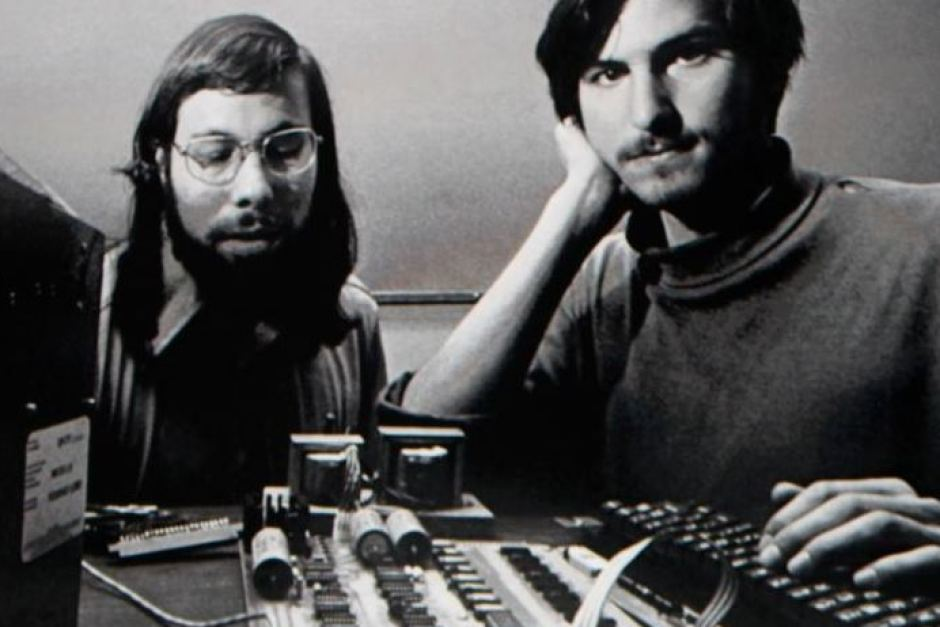 Picture of Jobs and Wozniak - both the very image of a young tech startup founder